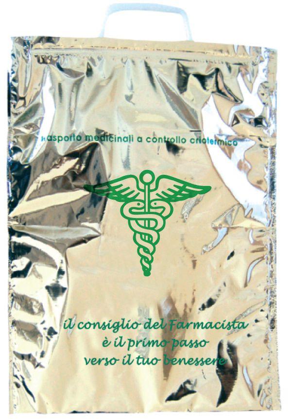 Buste Termiche Per Farmaci.Buste Termiche Con Manici Rigidi Colore Argento 30 X 35 Relink
